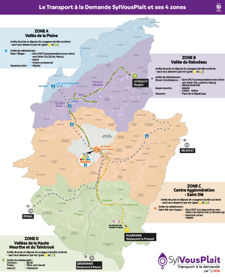 Plan réseau Transport à la demande